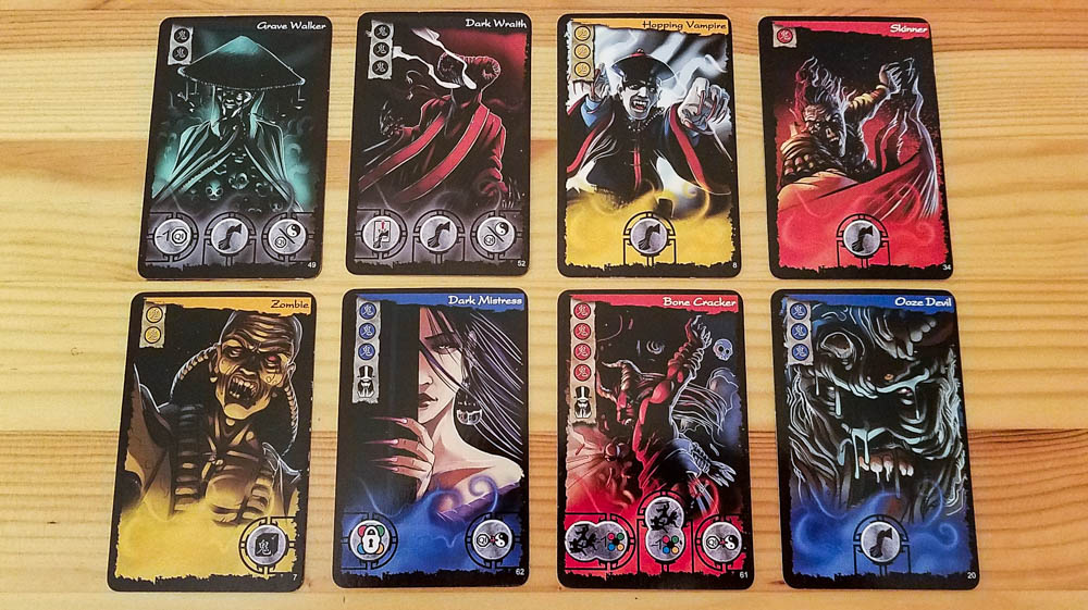 Ghost Stories review - ghost and Wu-Feng cards