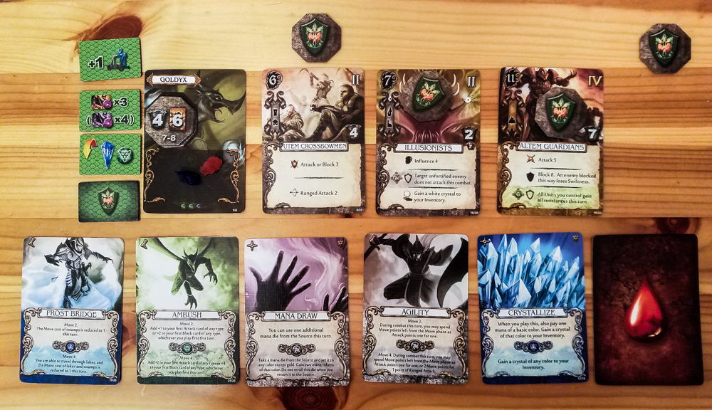 Mage Knight board game review - action cards and units
