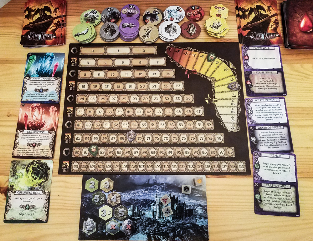 Mage Knight board game review - fame and rep