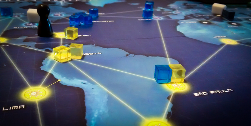 Pandemic board game review - common board state