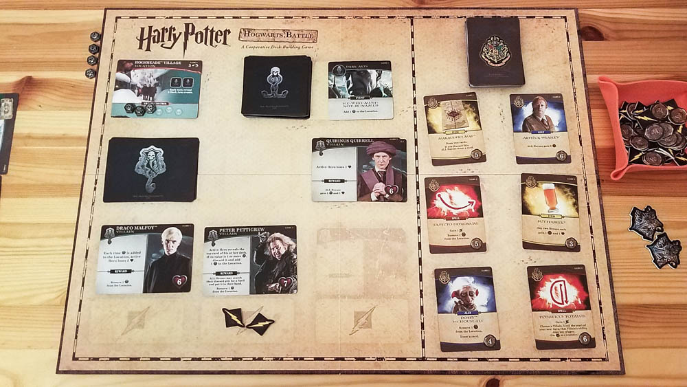 Harry Potter Hogwarts Battle review - board and cards