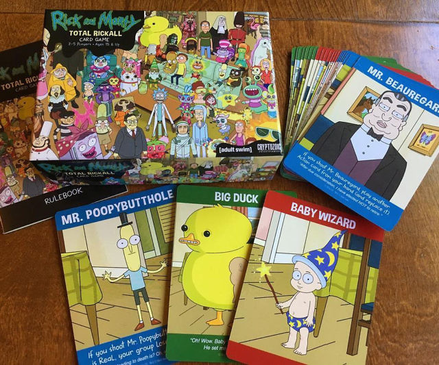 rick and morty total rickall box and cards