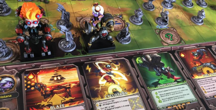 Mechs vs. Minions boards and minis
