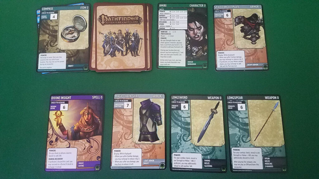 Pathfinder Adventure Card Game Core Set review - player area