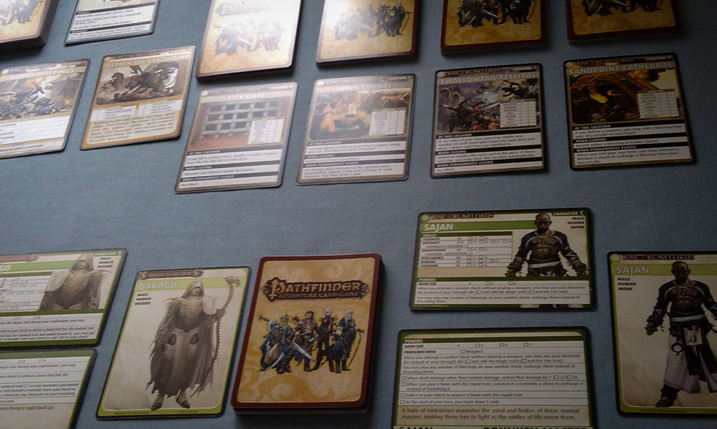 Pathfinder Adventure Card Game board