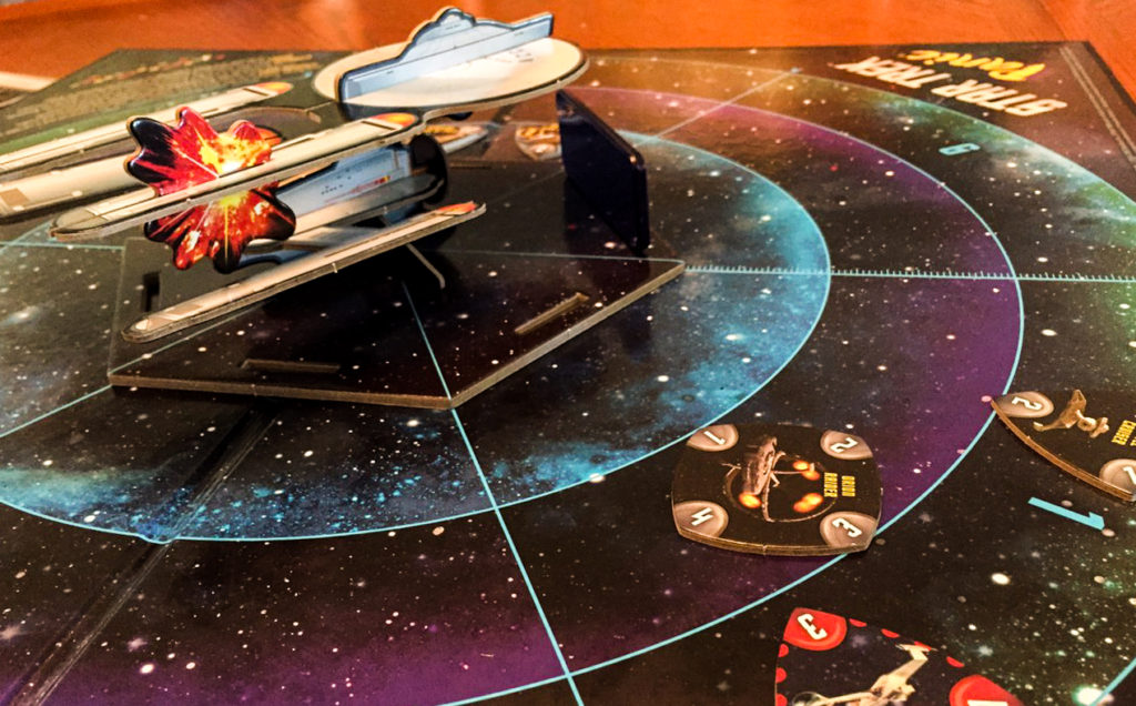 Star Trek Panic - board and Enterprise