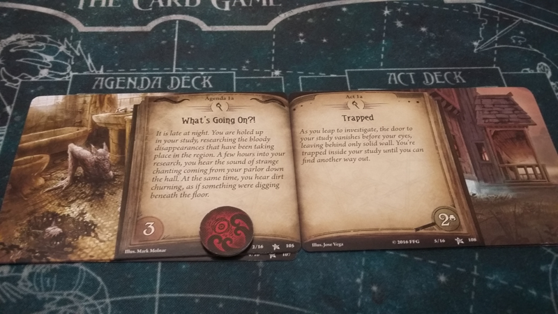 Arkham Horror: The Card Game review - Act Agenda
