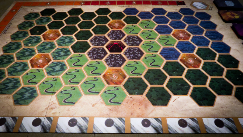 Escape from 100 Million B.C. board game review - board setup