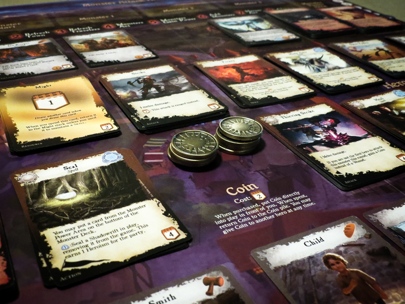 Shadowrift 2nd Edition review - board and coins