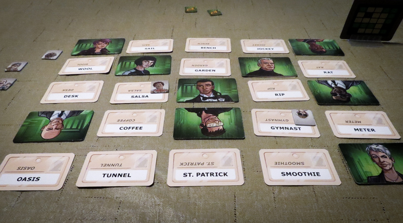 Codenames review - word cards and secret agents