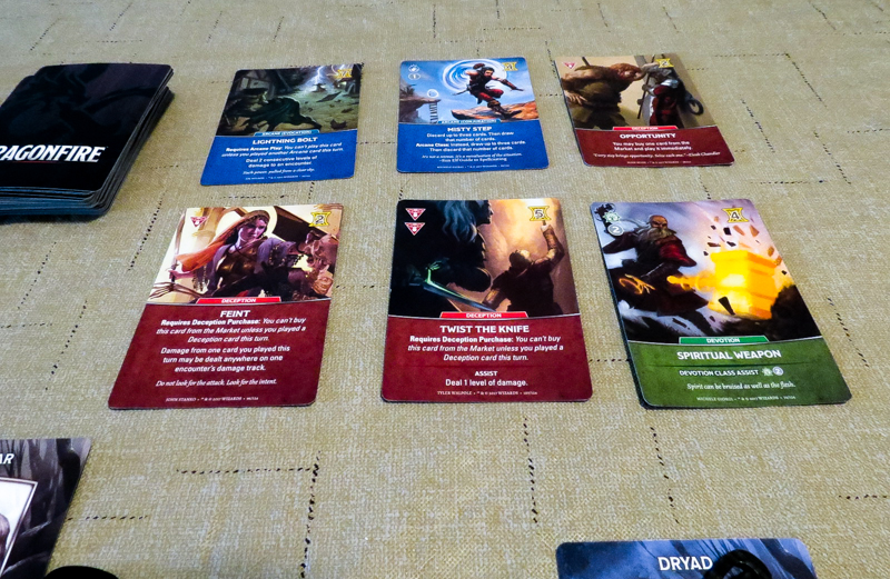 Dragonfire - market cards