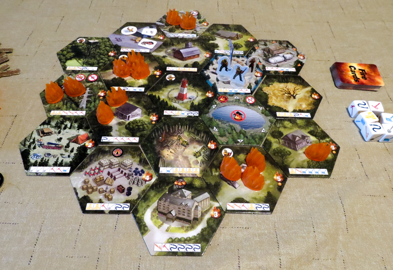 Hotshots board game review - game setup