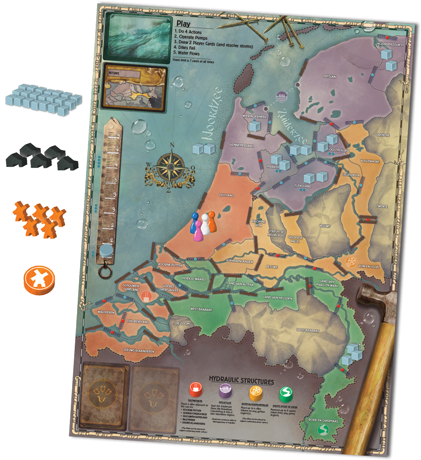 Pandemic Rising Tide preview - components