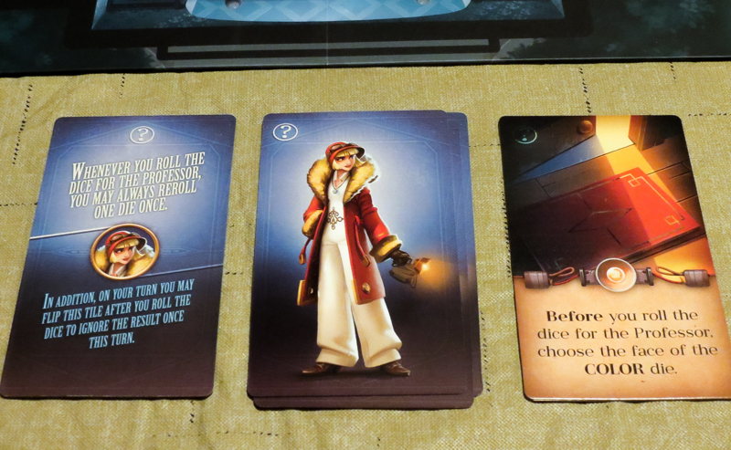 Professor Evil and The Citadel of Time review - character tile and card