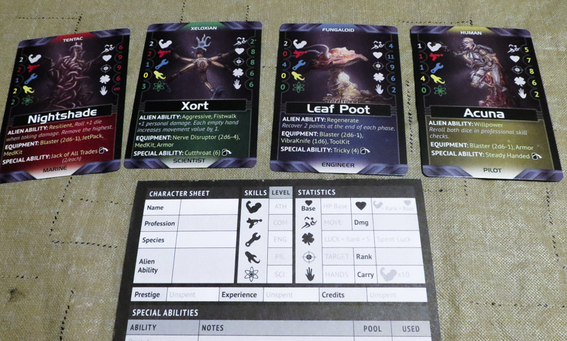 Battlestations Second Edition review - character cards