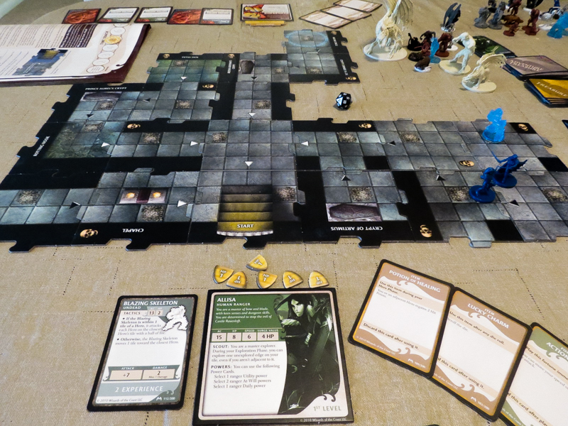 Castle Ravenloft review - tiles, miniatures, and cards