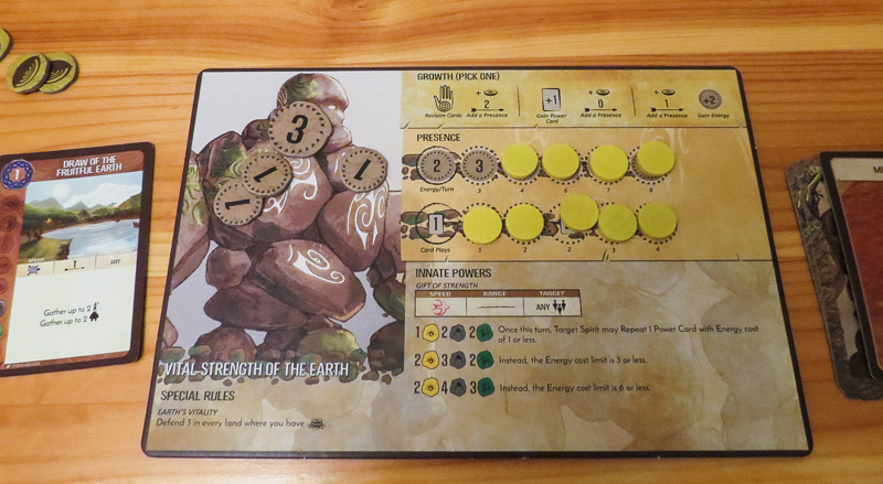 Spirit Island review - spirit panel