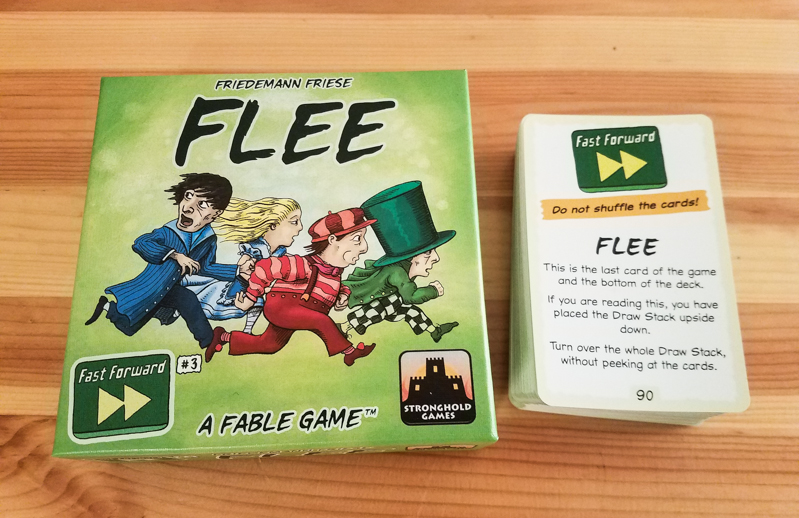 Fast Forward FLEE review - box and cards