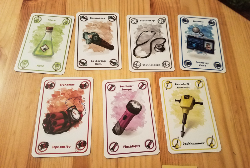 Rob 'n Run review - tool cards