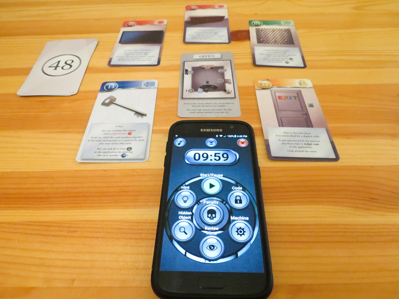 Unlock! card game review - app and tutorial cards