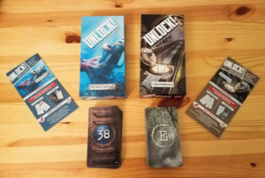 Unlock! card game review - boxes and cards