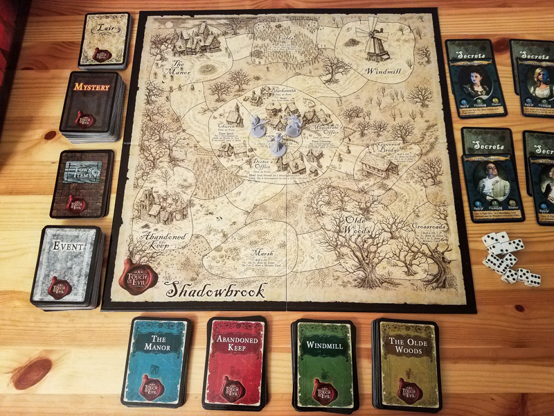 A Touch of Evil review - board setup