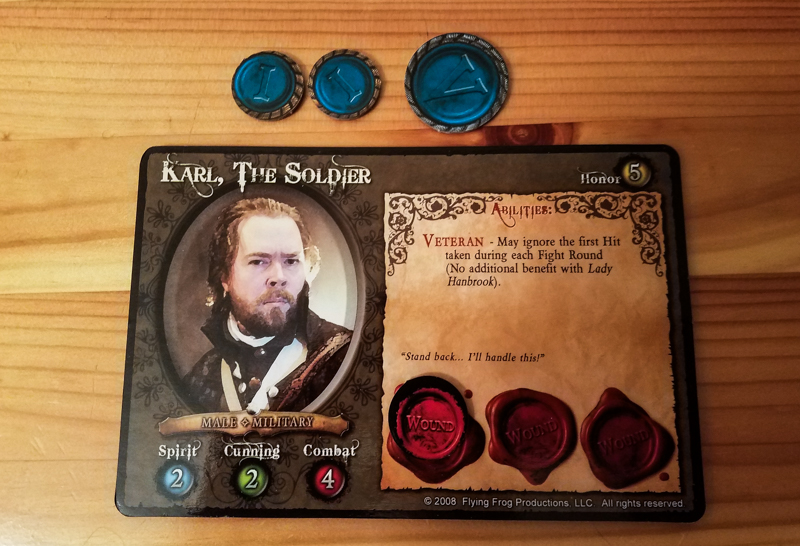 A Touch of Evil review - hero character sheet