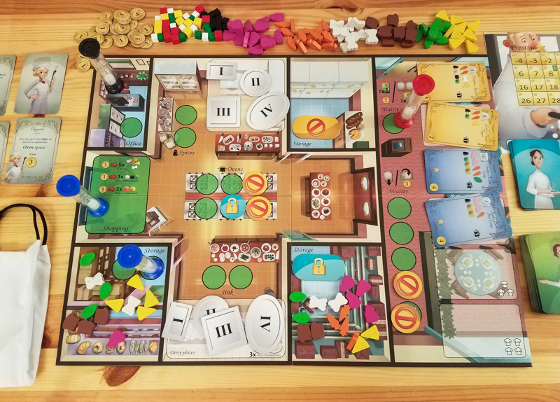 Kitchen Rush review - board and other components