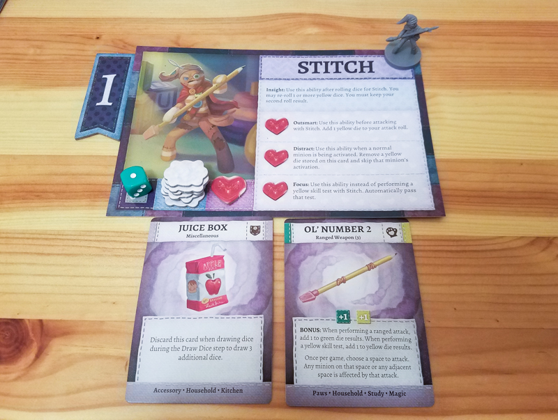 Stuffed Fables review - stuffy components