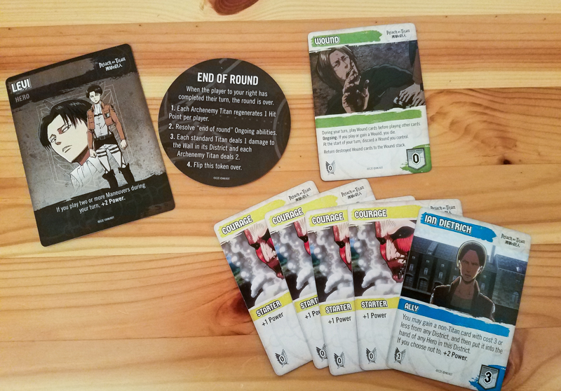 Attack on Titan Deck-Building Game review - character cards