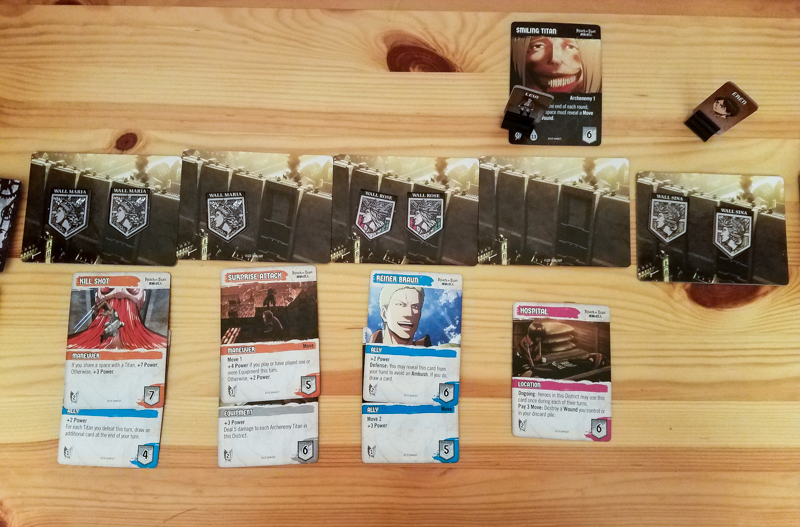 Attack on Titan Deck-Building Game review - city setup