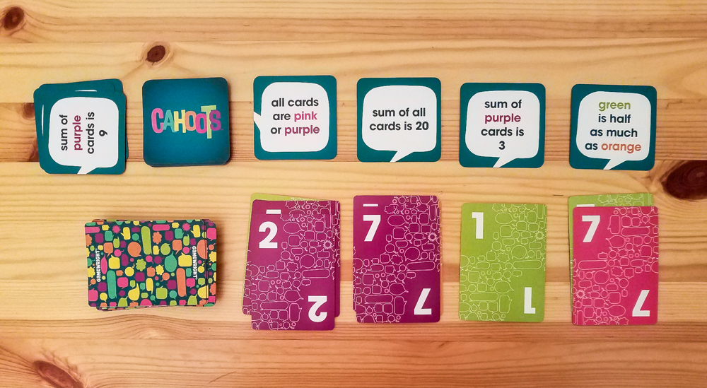 Cahoots review - number cards and goal cards
