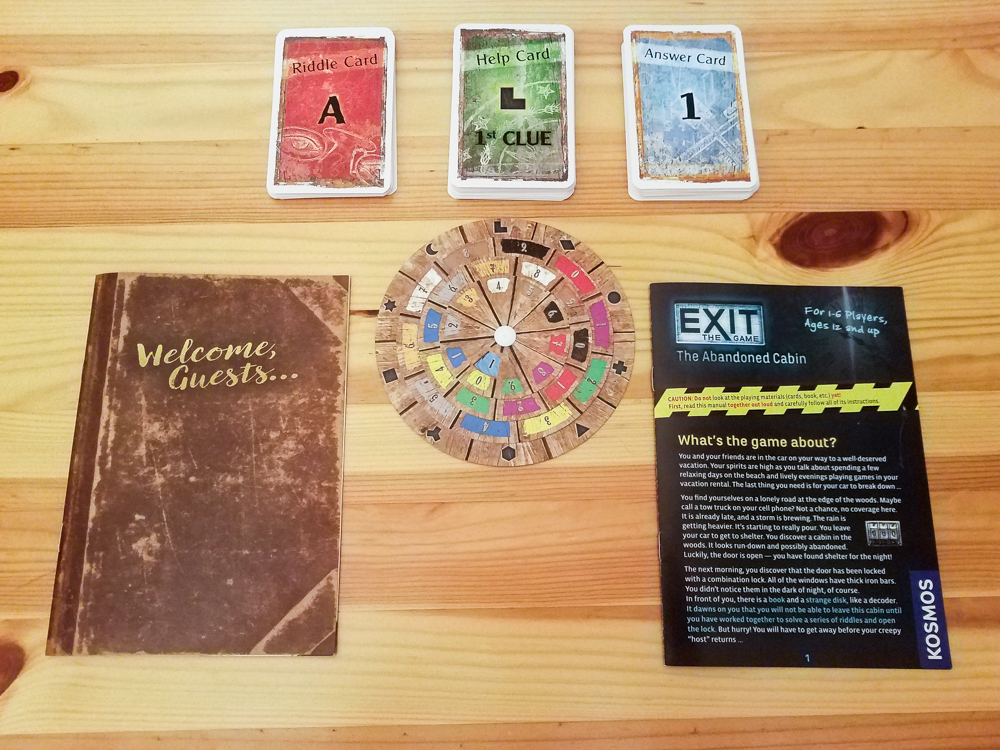 Exit The Game review - components