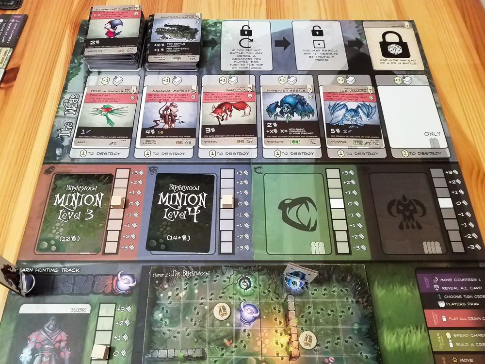 Direwild review - board and cards