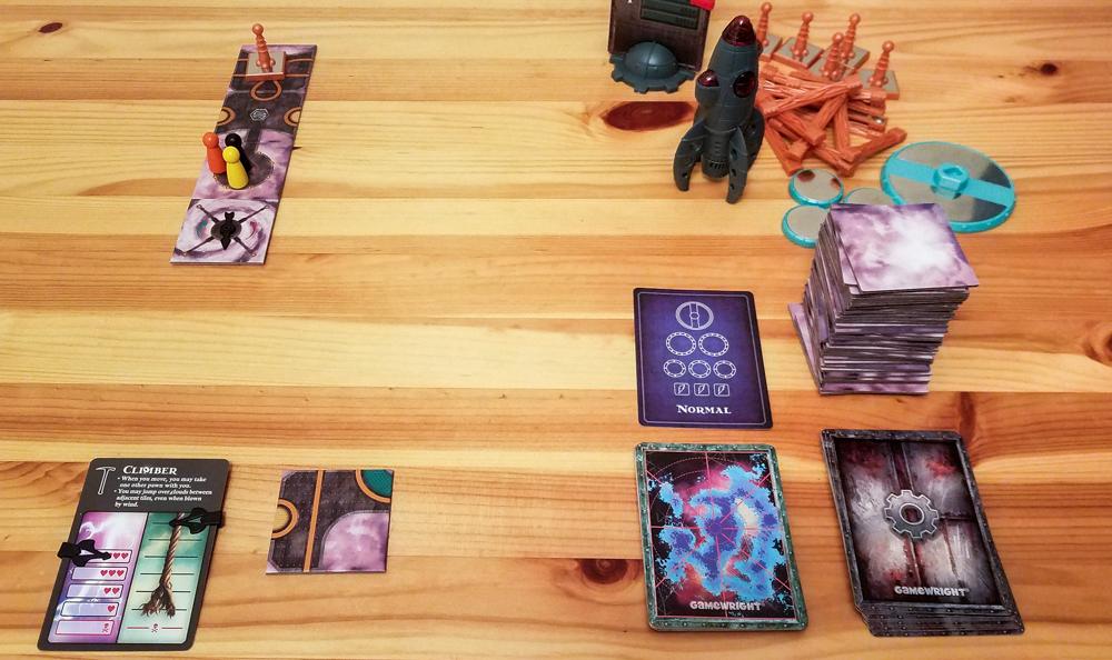 Forbidden Sky review - 3 player game setup