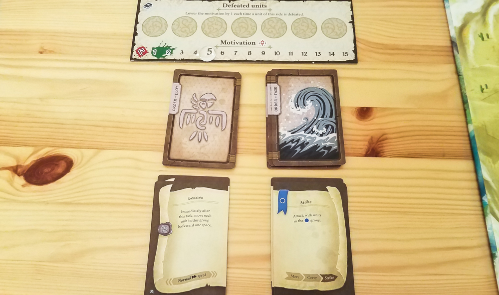 Dawn of Peacemakers review - order cards