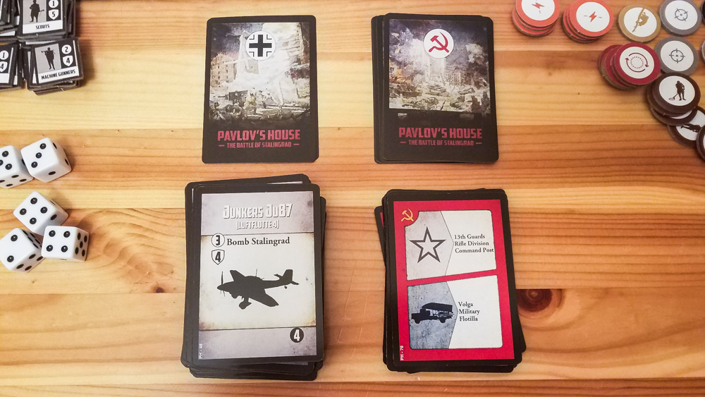 Pavlov's House review - Soviet and Wehrmacht cards