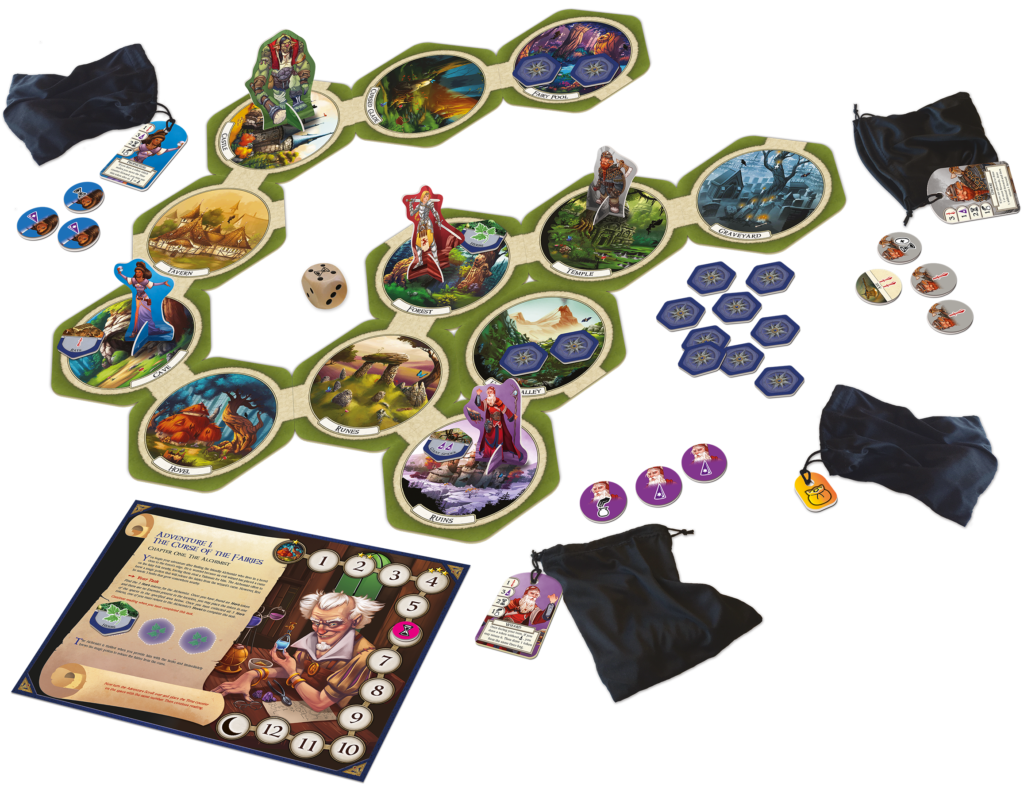 Talisman Legendary Tales preview - components