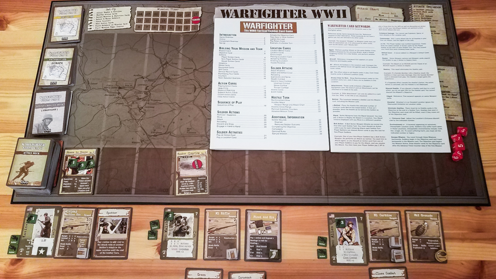 Warfighter WWII review - game setup