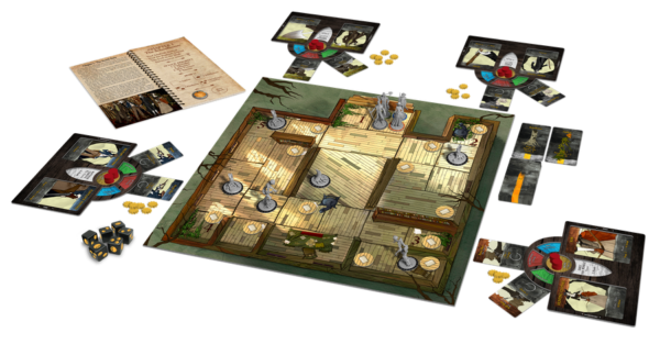 Legends of Sleepy Hollow board game preview - components
