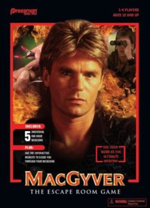 MacGyver The Escape Room Game board game review - cover