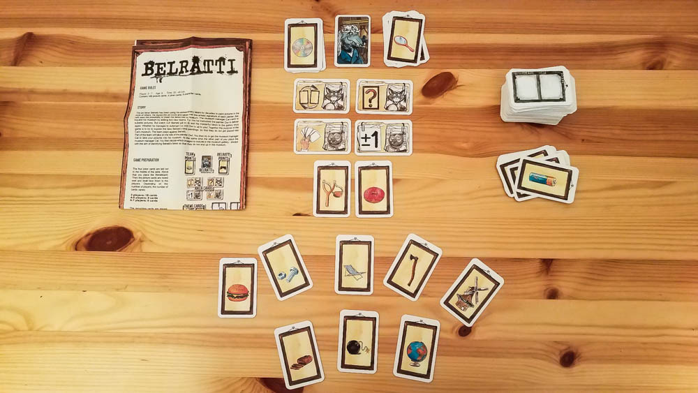 Belratti review - game rules and cards