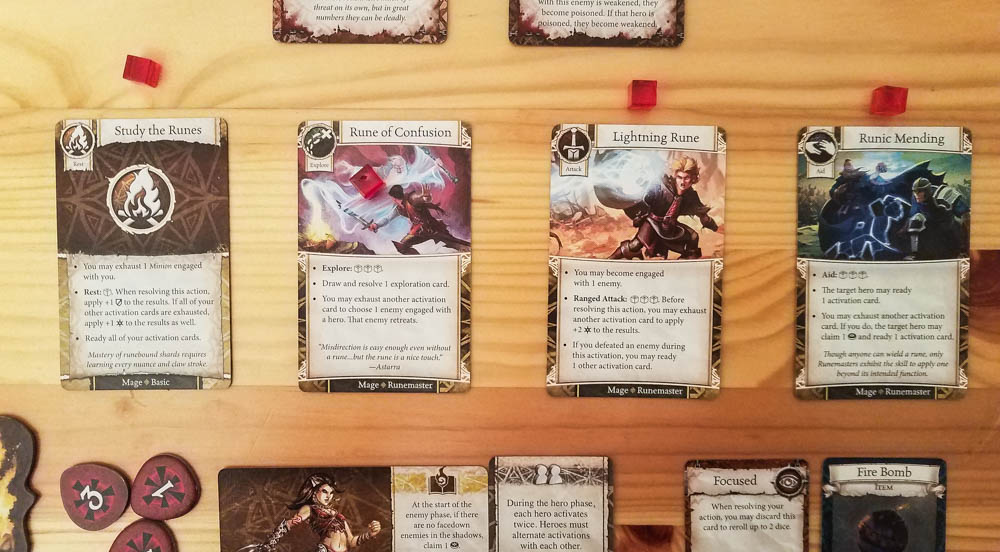 Heroes of Terrinoth review - activation cards