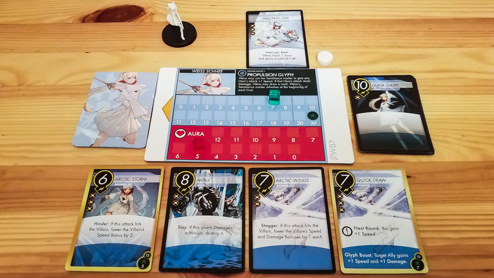 RWBY Combat Ready review - cards and scroll tracker