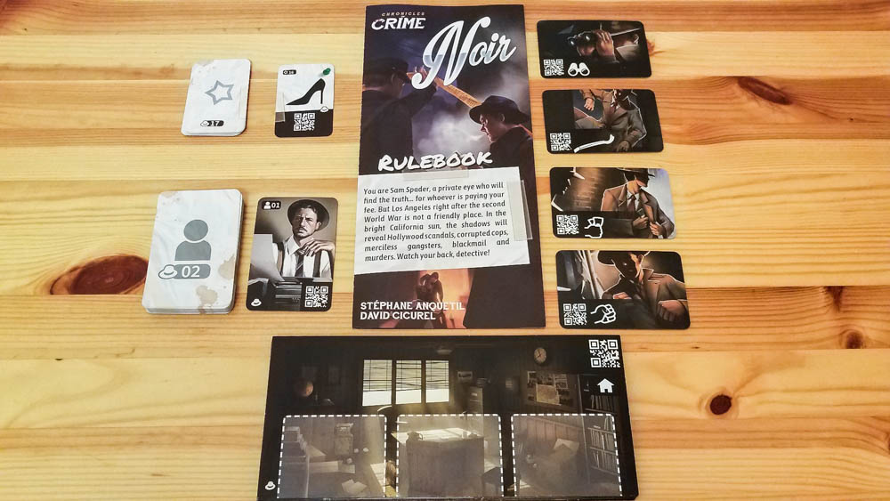Chronicles of Crime Noir review - everything in the box