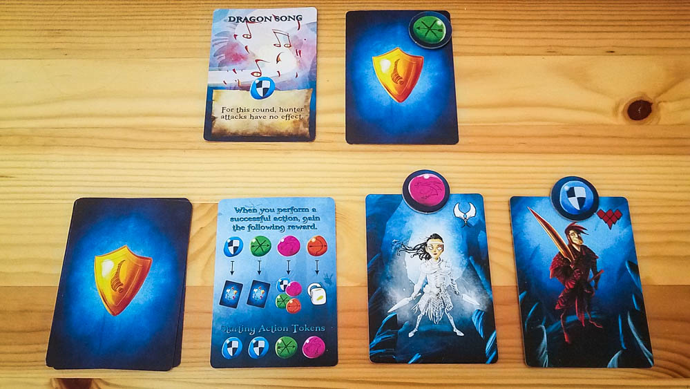 Dragon Keepers review - keeper cards and tokens