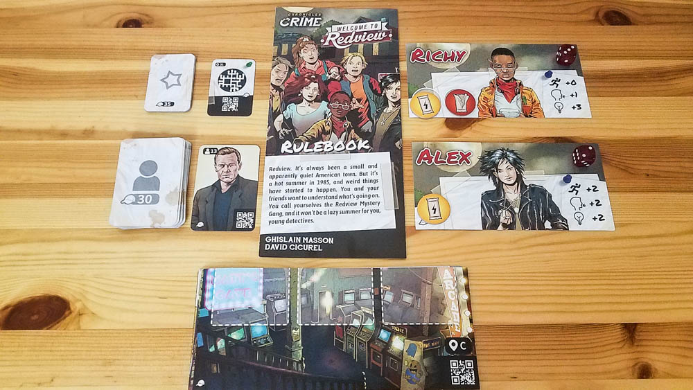 Chronicles of Crime Welcome to Redview review - components