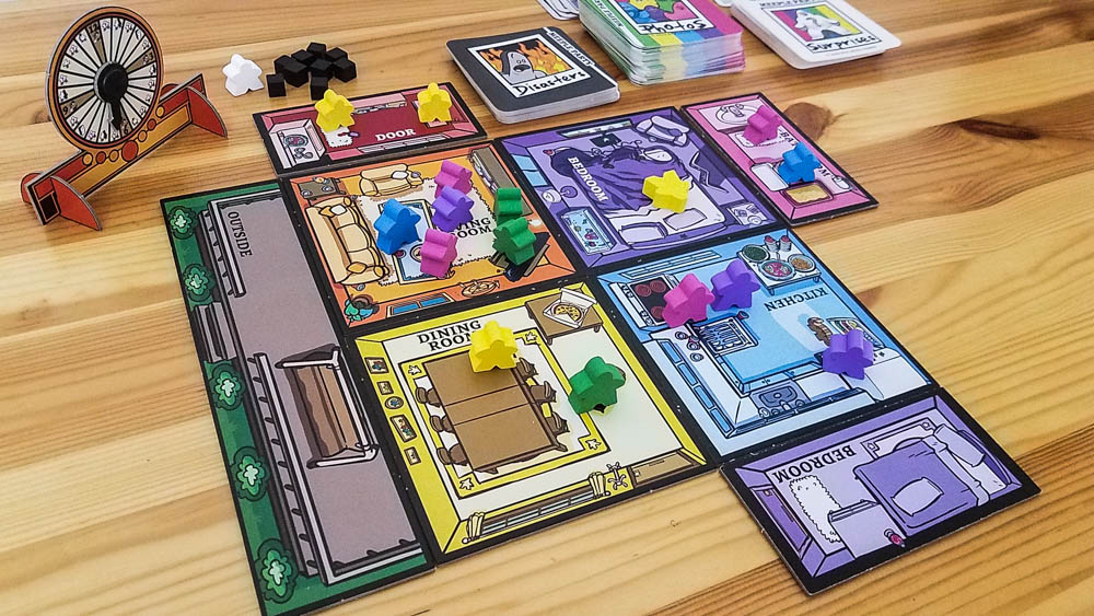 Meeple Party review - in the middle of a successful house party