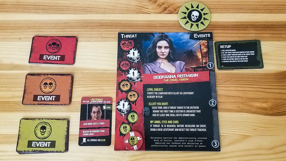Jagged Alliance The Board Game review - dictator