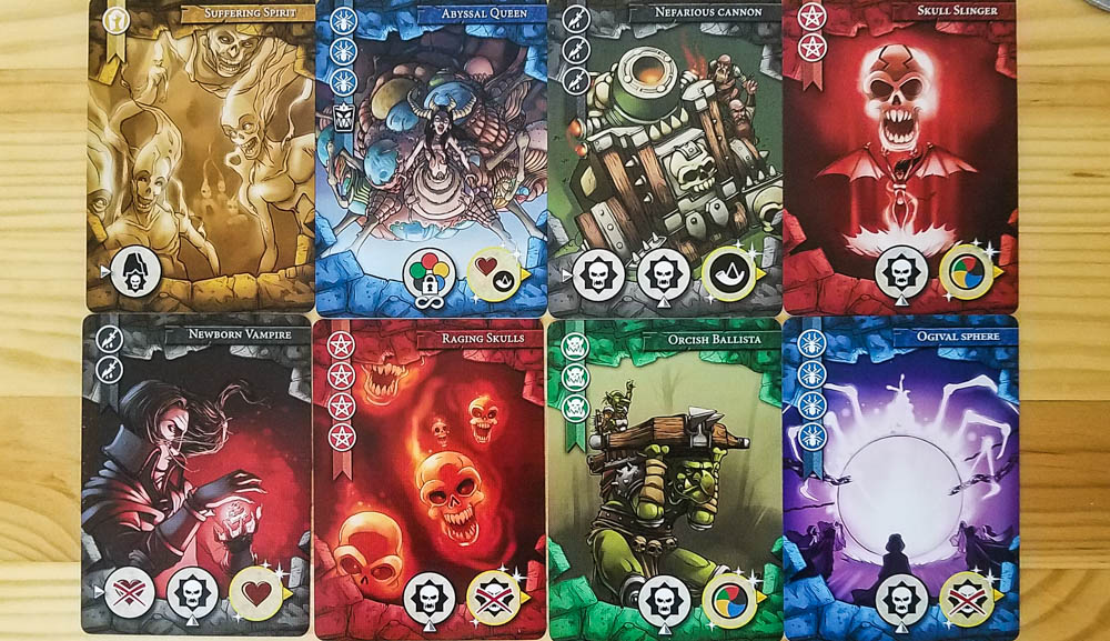Last Bastion review - monster cards